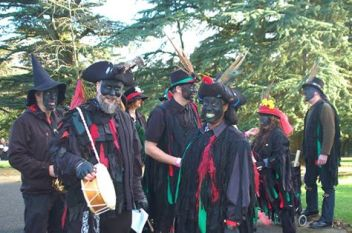 The Styxers gather on a bright and crisp winter day for the first ever Stroud Wassail at Stroud's Museum in the Park.