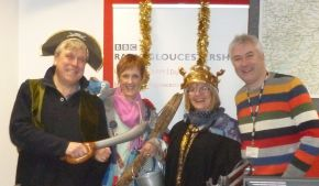 Chris from Styx (wearing the crown, of course!) was on BBC Radio Gloucestershire Dominic Cotter's show to promote the Stroud Wassail.